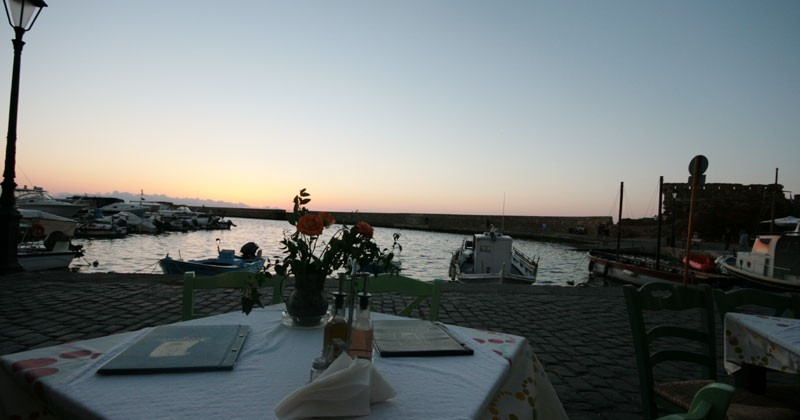 Antigoni Fish Restaurant Old Venetian port Chania Crete
